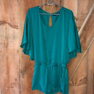 Guess teal silk romper size small